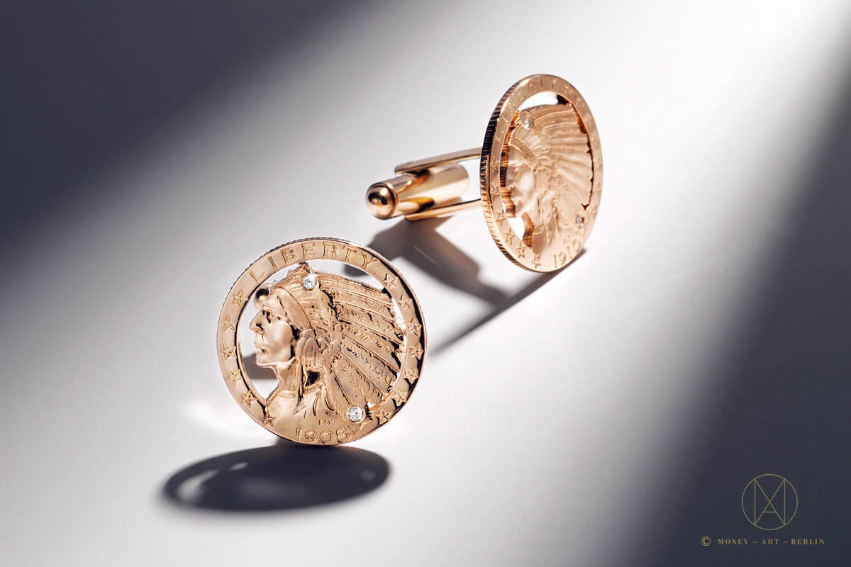 Indian Head Cufflinks